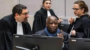 Gbagbo, shown here at the ICC in February, plans to go home if Wednesday's decision goes his way