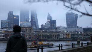 Edificios del barrio financiero de Londres, Reino Unido, el 28 de diciembre de 2020