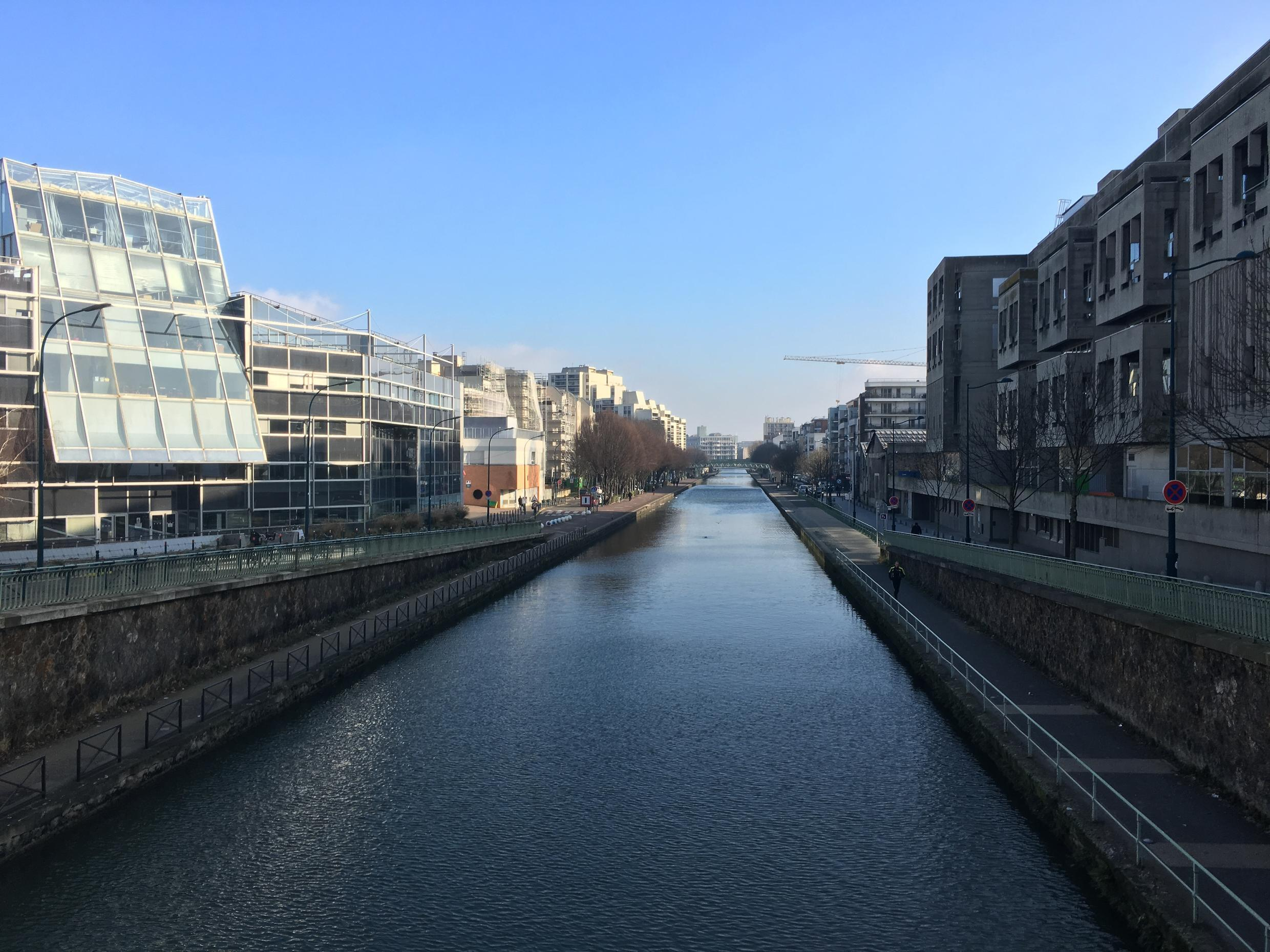 The Canal St Martin in Pantin