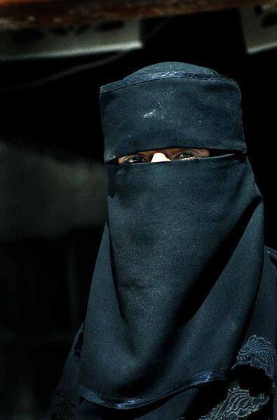A woman wearing niqab in Yemen