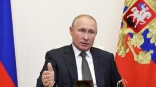 Vladimir Poutine à Moscou, le 24 septembre 2020.