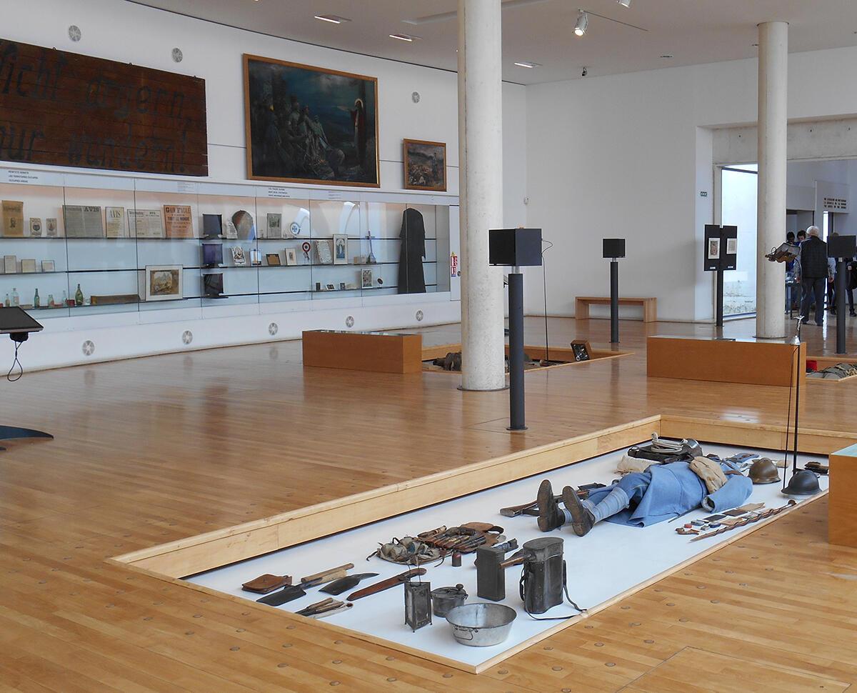 Une salle d'exposition de l'Historial de la Grande Guerre à Péronne
