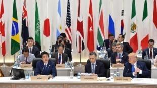 Les leaders du G20 durant le sommet d'Osaka, le 29 juin 2019.