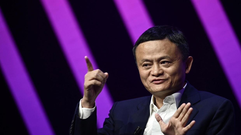 Jack Ma, PDG du géant chinois du commerce en ligne Alibaba, s'exprime lors de sa visite au salon Vivatech des start-up et de l'innovation, à Paris, le 16 mai 2019.