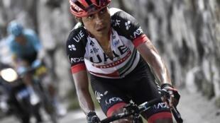 Le Colombien Darwin Atapuma durant le Tour de France 2017.