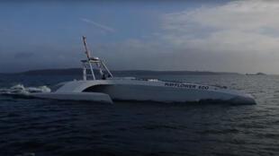 Capture d'écran d'une vidéo de présentation du Mayflower sur la chaîne YouTube de ProMare.
