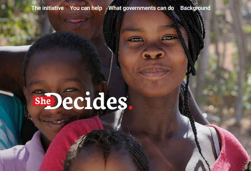 #SheDecides movement to empower women & girls across the world