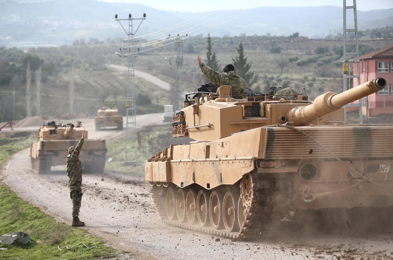 Des chars turcs dans le province de Kilis, à la forntière syrienne (photo d'illustration).
