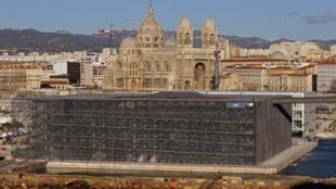 Le Musée des civilisations de l'Europe et de la Méditerranée (MuCEM) à Marseille.