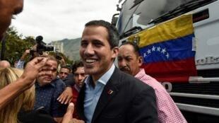Juan Guaidó, líder da oposição na Venezuela. 20 de Fevereiro de 2019.