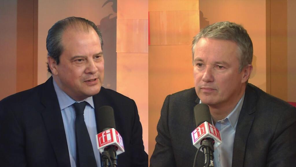 Jean-Christophe Cambadélis (gauche) et Nicolas Dupont-Aignan.