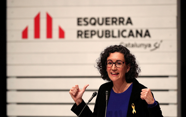 Mít-tinh của phe đòi ly khai trước bầu cử Nghị Viện Catalunya. Ảnh ngày 04/12/2017.