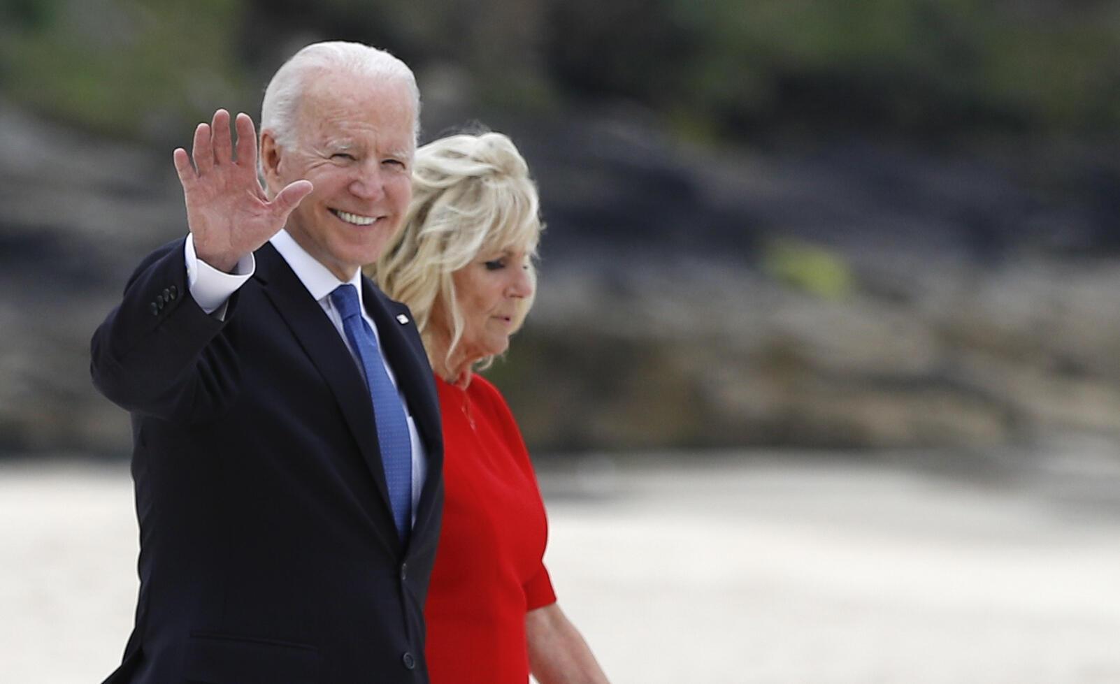 Royaume-Uni - G7 - Joe Biden - Arrivée