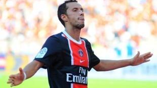 L'attaquant brésilien du Paris-SG, Nene.
