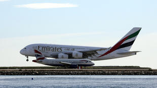 An Emirates Airbus A380 at France's Nice airport