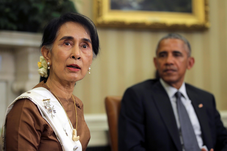 Bà Aung San Suu Kyi hội đàm với tổng thống Mỹ Barack Obama, tại Nhà Trắng, ngày 14/09/2016.