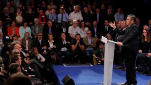 François Fillon en meeting à Provins, en Seine-et-Marne, le 5 avril 2017.