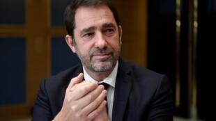 O actual ministro do Interior francês, Christophe Castaner. Paris.16 de Janeiro de 2019