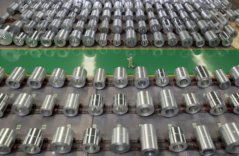 Một xưởng sản xuất thép tại Vũ Hán, tỉnh Hồ Bắc. Ảnh chụp ngày 02/08/2012.