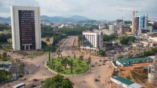 Une vue aérienne de Yaoundé, au Cameroun.