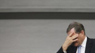 Le ministre du Travail et ancien ministre de la Défense, Franz Josef Jung, le 26 novembre 2009.