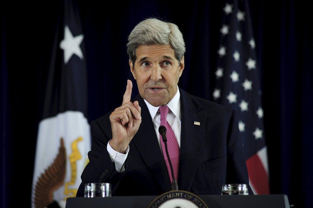 John Kerry dans le «Financial Times»: «Ce ne sera certainement pas un traité (...) Il n'y aura pas d'objectifs de réduction juridiquement contraignants comme cela avait été le cas à Kyoto».