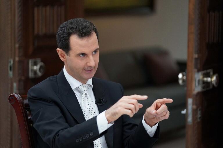 """بشار اسد، رهبر رژیم دمشق، در مصاحبه با شبکۀ """"راشیا تودی"""" از نیروهای آمریکایی مستقر در سوریه خواست که خاک این کشور را ترک کنند. - تصویر آرشیوی"""