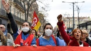 تظاهرات در مارسی در اعتراض به اصلاح قانون بازنشستگی، ۵ دسامبر۲۰۱۹