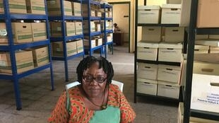 Rita C. Shaw, archivist, is part of the team working on Liberia's Presidential Archive