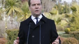 O premiê russo Dmitri Medvedev, em foto de 24 de fevereiro