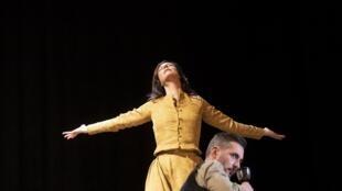 Anne Mouglalis et Xavier Legrand dans «Mademoiselle Julie», d'August Strindberg.