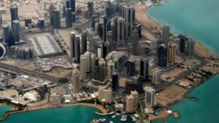 Vue aérienne de Doha, la capitale du Qatar. (Image d'illustration)