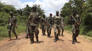Des soldats des Forces républicaines de Côte d'Ivoire.
