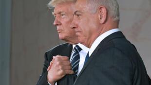 Le président américain Donald Trump et le Premier ministre israélien Benyamin Netanyahu, le 23 mai 2017 à Jérusalem.