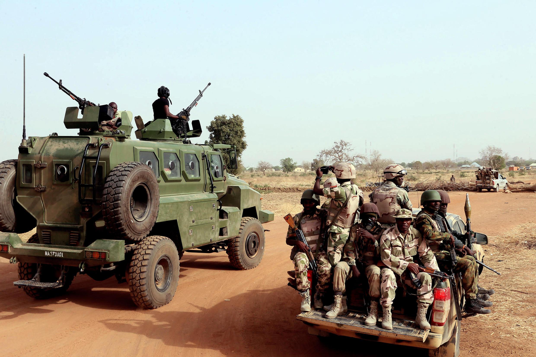 Sojojin Najeriya da ke yaki da Boko Haram a jihar Borno da ke yankin arewa maso gabashin kasar.