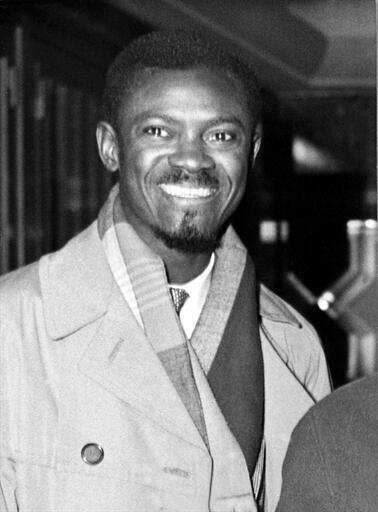 Patrice Lumumba en 1960.