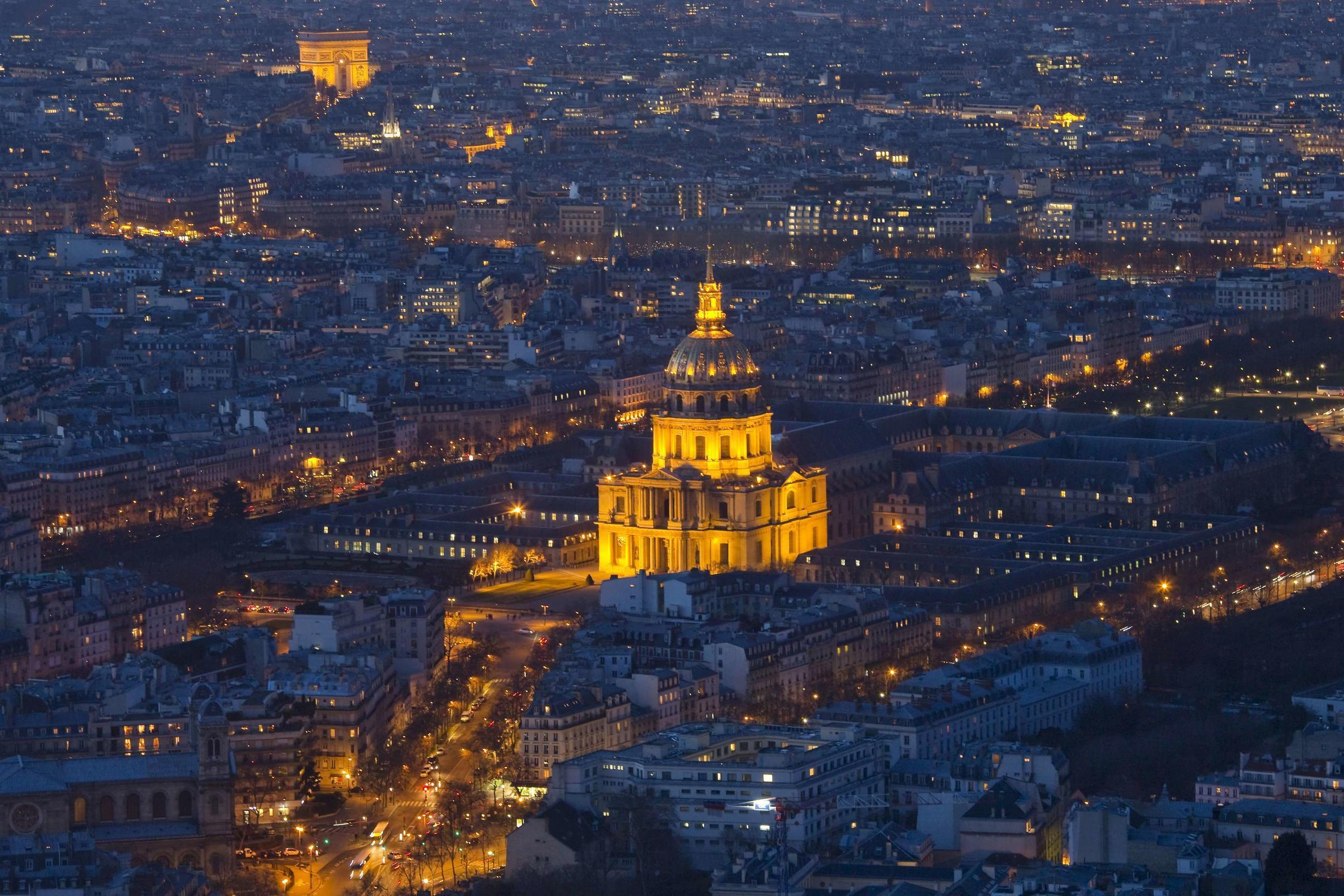 The Invalides, which has been overflown by drones repeatedly, and the Arc de Triomphe in Paris