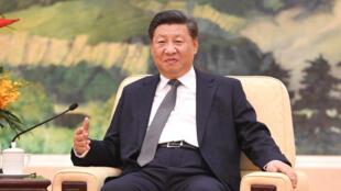 图为中国国家主席习近平2018年10月17日星期三在北京人民大会堂会见俄罗斯总统行政办公室主任Anton Vaino