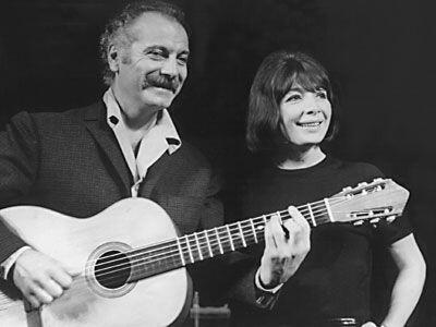 Georges Brassens et Juliette Gréco partagent l'affiche en 1966.