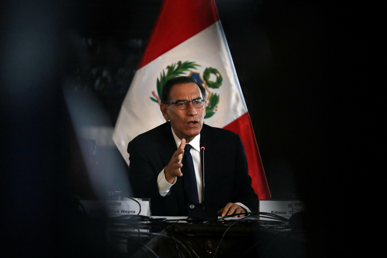 El presidente peruano Martín Vizcarra.