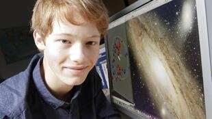 Neil Ibata, 15-year-old French high school student and the son of an astrophysicist at the Strasbourg Observatory