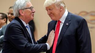 """O presidente da Comissão Europeia, Jean-Claude Juncker: """"A política da America First não pode significar Europe Last""""."""