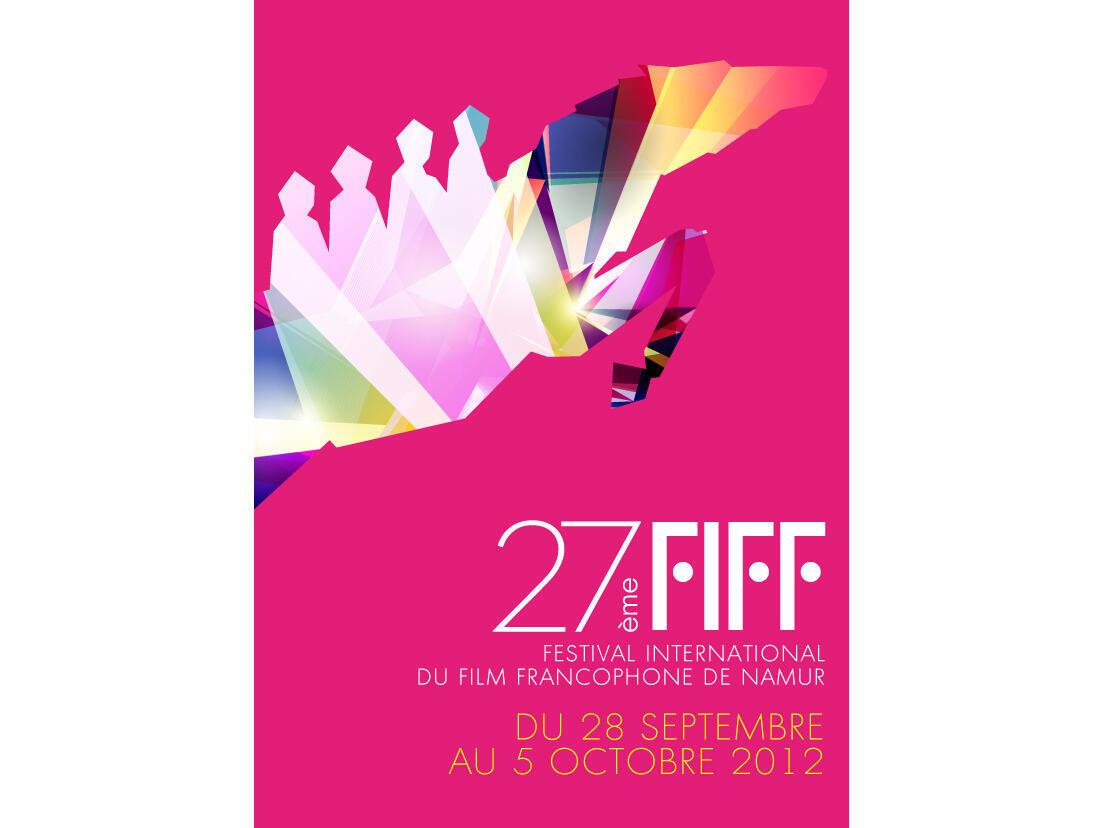 Affiche de la 27e édition du Festival international du film francophone de Namur.