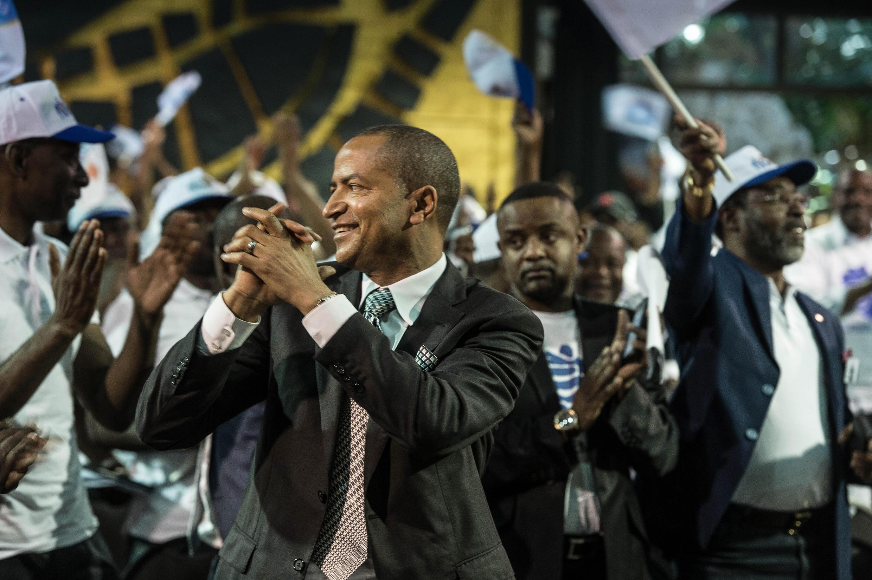 L'opposant congolais en exil Moïse Katumbi, lors du lancement de son mouvement politique «Rassemblement pour le changement», le 12 mars 2018, à Johannesburg.