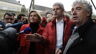 Déplacement de Valérie Pécresse et de Laurent Wauquiez pour soutenir le candidat des Républicains (LR) Antoine Savignat dans l'élection législative partielle de la 1re circonscription du Val-d'Oise. (Photos d'archives)