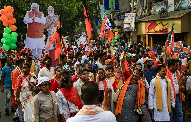 2021-04-05 india calcutta kolkata narendra modi prime minister bjp rally