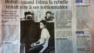 Foto da presidenta Dilma Rousseff em 1970 repercute artigo no jornal francês Le Figaro.