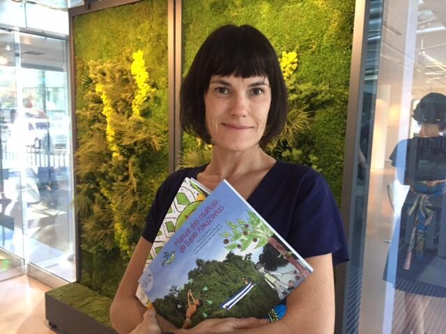 A artista visual, educadora e mediadora cultural Marie Ange Bordas