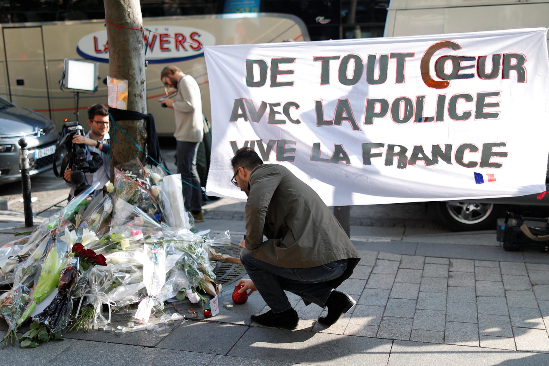 Eneo la Champs Elysee baada ya tukio la mauaji ya kigaidi jijini Paris Aprili 21, 2017