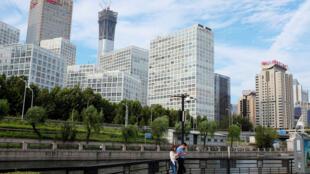 图为北京金融商业中心2017年8月29日一景